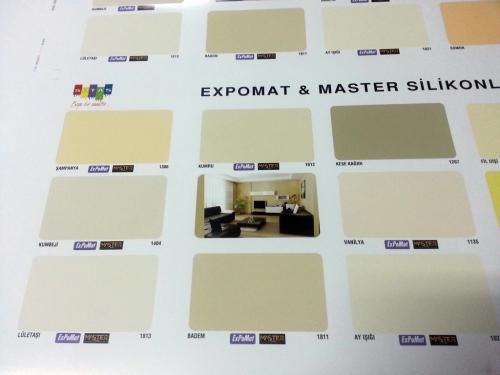 expomat boya renk katrelası serigrafi baskı yöntemi ile basıldı